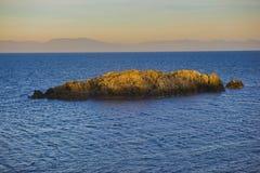 Vista del océano que pasa por alto el estrecho de Georgia del cuello Po Imagen de archivo