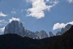 Vista del ortisei Val Gardena Italia delle alpi delle montagne delle dolomia Immagine Stock Libera da Diritti