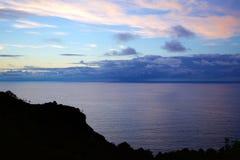 Vista del país vasco cántabro fotografía de archivo