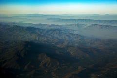 Vista del paesaggio arido della montagna Immagini Stock