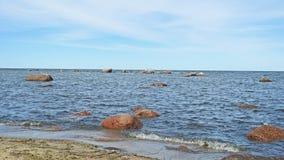 Vista del paesaggio del Mar Baltico vicino a Tallinn Fotografia Stock
