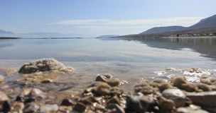 Vista del paesaggio del mar Morto in Israele Fotografia Stock