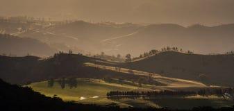 Vista del paesaggio del parco nazionale blu delle montagne Immagini Stock Libere da Diritti