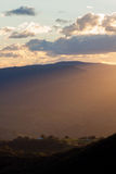 Vista del paesaggio del parco nazionale blu delle montagne Immagini Stock