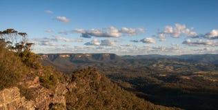 Vista del paesaggio del parco nazionale blu delle montagne Fotografia Stock Libera da Diritti
