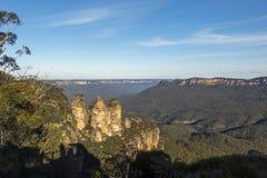 Vista del paesaggio del parco nazionale blu delle montagne Immagine Stock Libera da Diritti