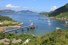 Vista del paesaggio dell'isola di Lamma in Hong Kong Immagine Stock