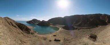 Vista del paesaggio della baia del fiordo, Taba fotografia stock libera da diritti