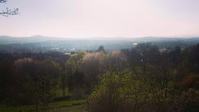 Vista del paesaggio della città e del parco & x28; spectacle& nascosto x29; fotografie stock libere da diritti