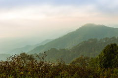 Vista del paesaggio della montagna Fotografie Stock Libere da Diritti