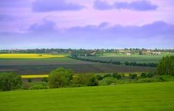 Vista del paesaggio della primavera Immagine Stock