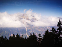 Vista del paesaggio delle alpi del Giappone Immagine Stock