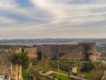 Vista del paesaggio delle pareti storiche del diyarbakir-tacchino fotografia stock libera da diritti