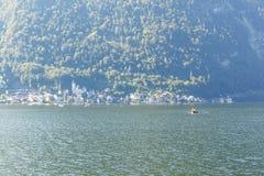 Vista del paesaggio di Hallstatt Fotografia Stock