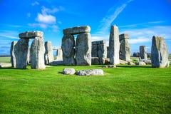 Vista del paesaggio di Stonehenge a Salisbury, Wiltshire, Inghilterra, Regno Unito immagini stock libere da diritti