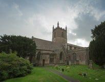 Vista del paesaggio di una chiesa inglese Fotografia Stock