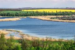 Vista del paesaggio, lago Fotografia Stock