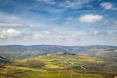 Vista del paesaggio montagnoso fotografia stock
