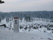 Vista del paesaggio nell'inverno Fotografia Stock