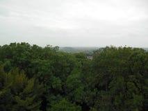 Vista del paesaggio sopra la barriera Fotografia Stock Libera da Diritti