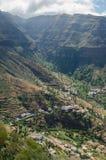 Vista del paesaggio sulla valle di Valle Gran Rey Immagine Stock