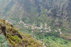 Vista del paesaggio sulla valle di Valle Gran Rey Immagine Stock Libera da Diritti