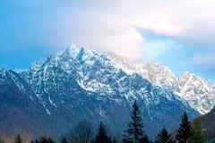 Vista del paesaggio sulle alpi slovene Immagini Stock Libere da Diritti