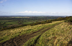 Vista del paese Fotografia Stock