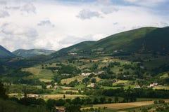 Vista del paese, Umbria Immagine Stock Libera da Diritti