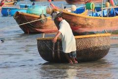 Vista del paesino di pescatori di Mui Ne Immagini Stock Libere da Diritti