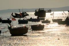 Vista del paesino di pescatori di Mui Ne Immagine Stock Libera da Diritti