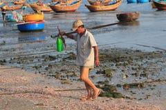Vista del paesino di pescatori di Mui Ne Fotografia Stock