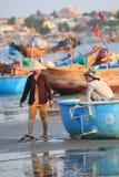 Vista del paesino di pescatori di Mui Ne Fotografie Stock Libere da Diritti