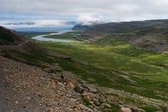 Vista del paisaje de Westfjord, Islandia imagen de archivo libre de regalías