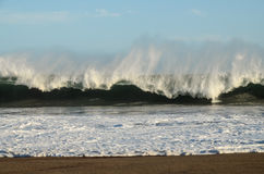 Vista del paisaje marino de la tormenta Fotos de archivo