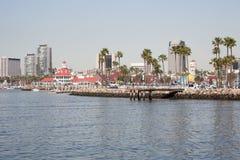 Vista del paisaje urbano de Long Beach Califronia del agua Fotografía de archivo libre de regalías
