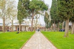 Vista del palacio de Topkapi en Estambul, Turquía foto de archivo