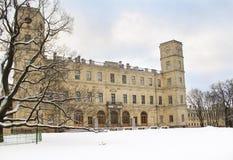 Vista del palazzo dal parco Fotografia Stock