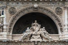 Vista del palazzo di Roma corte di cassazione il giorno nuvoloso Immagini Stock Libere da Diritti