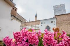 Vista del palazzo di Topkapi a Costantinopoli, Turchia fotografia stock