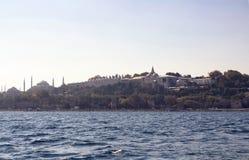Vista del palazzo di Topkapi e di Hagia Sophia Fotografia Stock Libera da Diritti