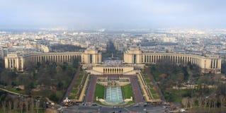 Vista del palazzo di Trocadero 11 gennaio 2014, la Francia Fotografia Stock