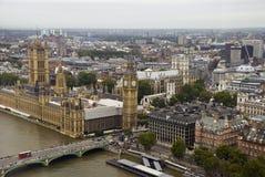 Vista del palazzo di Westminster Fotografia Stock Libera da Diritti