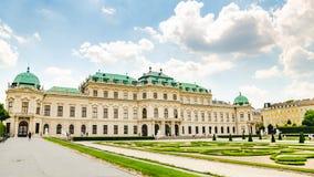 Vista del palazzo famoso di belvedere a Vienna fotografia stock