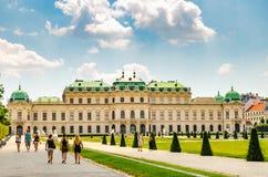 Vista del palazzo famoso di belvedere a Vienna fotografie stock libere da diritti