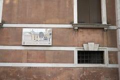 Vista del palazzo Scotti immagini stock