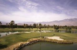 Vista del Palm Springs y del barranco del tipo de tela de algodón Fotos de archivo libres de regalías