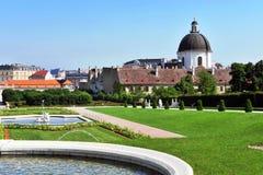 Vista del parco di belvedere fotografie stock libere da diritti