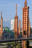 Vista del parco di Dora di parco, Torino Fotografia Stock