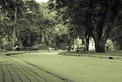 Vista del parco di Lumpini, Bangkok Fotografia Stock Libera da Diritti